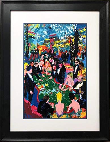 "LEROY NEIMAN ""Baccarat Custom Framed Art Serigraph 31"" x 40"""