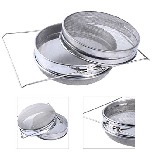 (YaeKoo 304 Stainless Steel Double Sieve Beekeeping Equitment Filter)