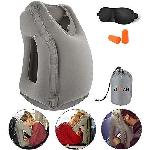 Inflatable Travel Pillow, Travel Accessories for Women and Men, Travel Neck Pillow, Airplane Pillow, Flight Sleep Pillow, Travel Pillows for Airplane,