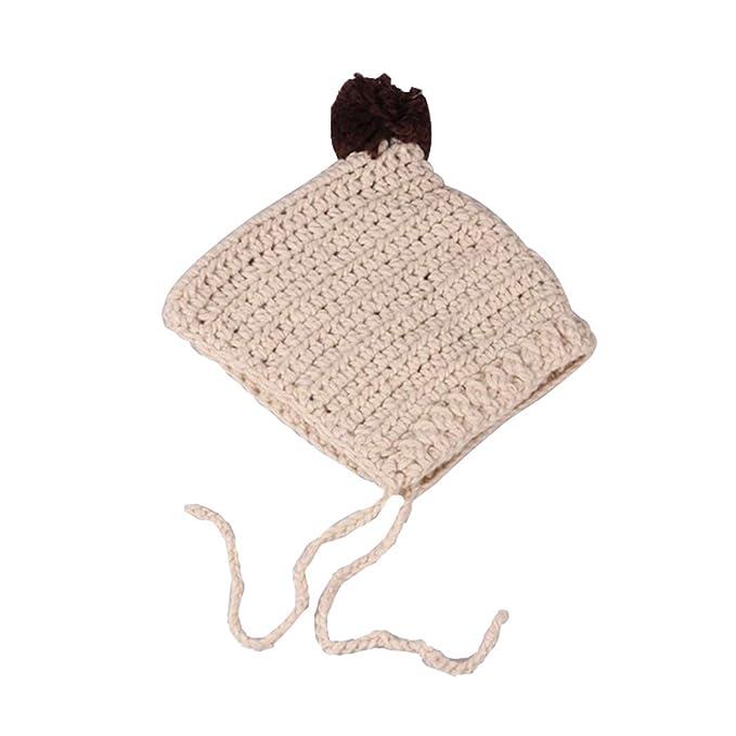 3db4d04a5 Zoylink Baby Hat Cute Pom Pom Braid Decor Baby Knitted Hat Baby ...
