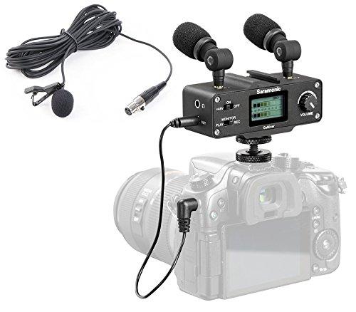Saramonic DSLR Camera Audio Bundle w/ Mixer, Lavalier, & Dua