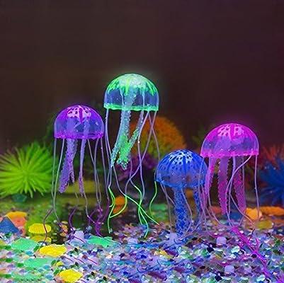 motina 4 pcs Glowing medusas para Acuario Tanque de peces