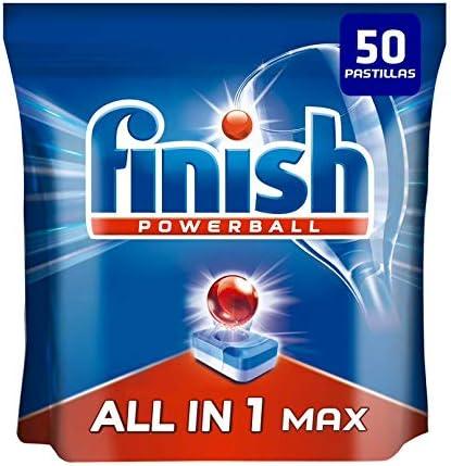 Finish Todo en 1 Max Pastillas para Lavavajillas Regular - 50 Pastillas