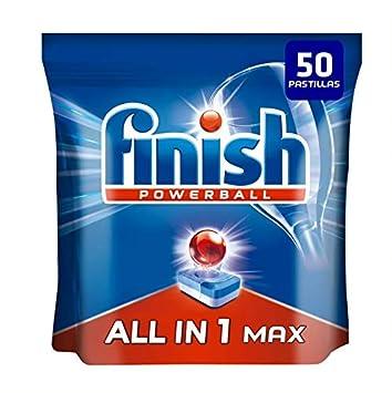 Finish Todo en 1 Max Pastillas para Lavavajillas Regular - 50 ...