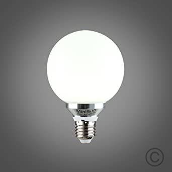 Bombilla LED grande, diseño esférico, color blanco/Opaque. blanco del día y