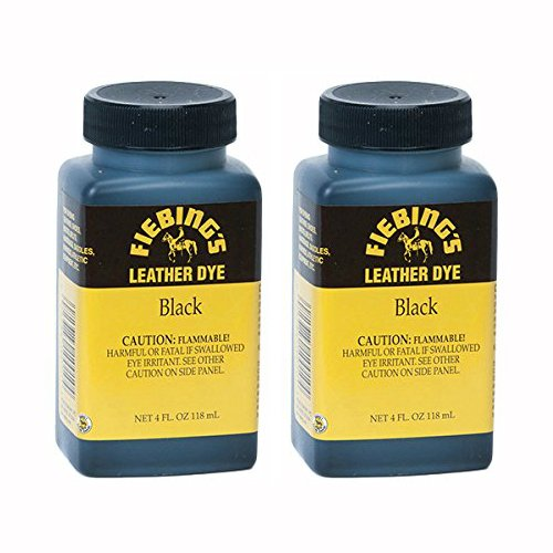 Fiebing's Black Leather Dye, Pack of 2
