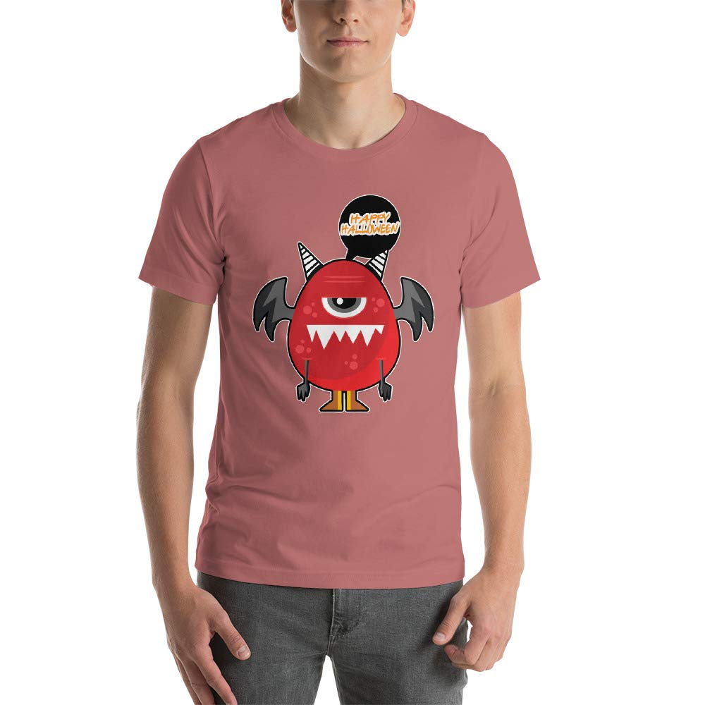 Spicy Cold Apparel Happy Halloween Egg Mens Ultra 100/% Cotton Short Sleeve T-Shirt 3001