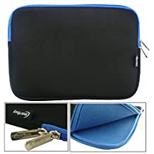 Emartbuy® Black / Blue 12.5 - 14 Inch Water Resistant Neoprene Soft Zip Case Cover Sleeve With Blue Interior & Zip for ASUS ZenBook UX330UA 13.3 Inch Laptop ( 12.5 - 14 Inch Notebook )