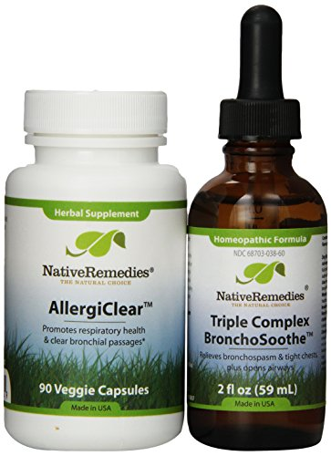 Native Remedies AllergiClear and BronchoSoothe 2 fl oz