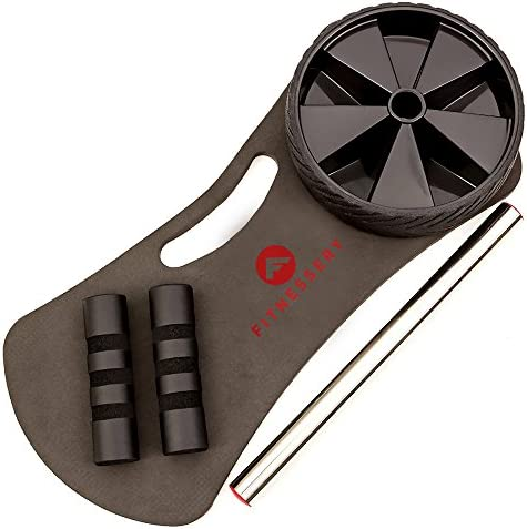 Fitnessery Ab Roller for Abs Workout - Ab Roller Wheel Exercise Equipment - Ab Wheel Exercise Equipment - Ab Wheel Roller for Home Gym - Ab Machine for Ab Workout - Ab Workout Equipment