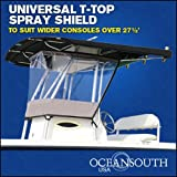 UNIVERSAL T-TOP ENCLOSURE, SPRAY SHIELD, CLEAR, SPRAY CURTAIN, for consoles over 27½''