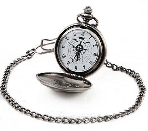 Cosplay Pocket Watch (Fullmetal Alchemist Brotherhood - Ed Pocket Watch Necklace Cosplay Accessories Silver)