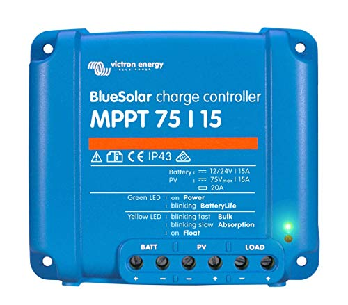 - Victron BlueSolar 75/15 MPPT Charge Controller - 15 Amps / 75 Volts