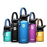 WaterFit Vacuum Insulated Water Bottle - Double Wall Stainless Steel Leak Proof BPA