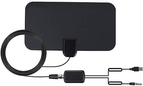 ZUZU Antena de televisión Digital de Alta definición amplificada Amplitud de 65-85 Millas - 4K 1080p y Todos los televisores más Antiguos Amplificador de señal HDTV Potente y Potente,US: Amazon.es: Deportes y