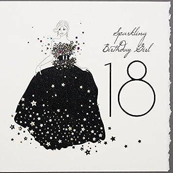 Sparkling Birthday Girl 18 Handmade Birthday Card S20 Amazon