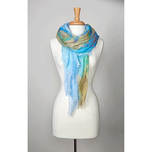 PrAna Women's Alesso Scarf, Blythe Blue, One Size