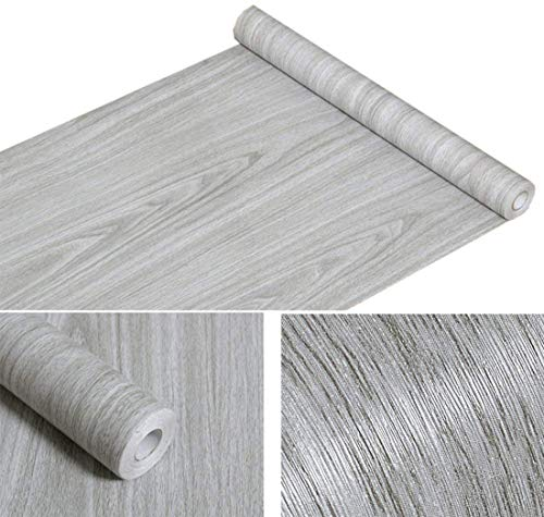 - Wood Grain Contact Paper Self Adhesive Shelf Liner Covering for Countertop Kitchen Cabinets Wall Table Door Desk (Grey, 17.7