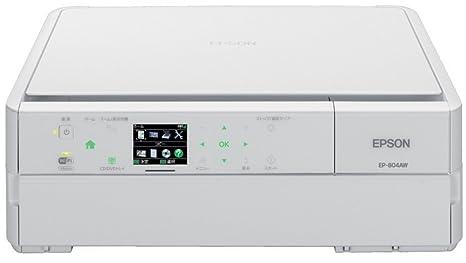 1d326a5c85 Amazon | EPSON Colorio インクジェット複合機 EP-804AW 有線・無線LAN標準対応 スマートフォンプリント対応  先読みガイド&カンタンLEDナビ搭載 6色染料インク ...
