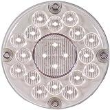 """Maxxima M90450 White 7"""" Round Bus LED Backup Light"""