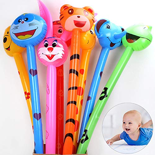 HsgbvictS Inflatable Stick Toy Baby Toys 1Pc Animal Inflatable Air Stick Blow Bar Noisemaker Party Kids Cheer up Prop - Random Style ()