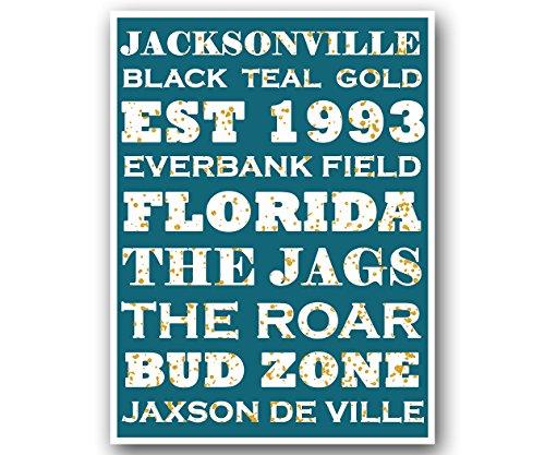 Atlas Jacksonville Jaguars Poster Subway Style Art Football NFL Print 12x16