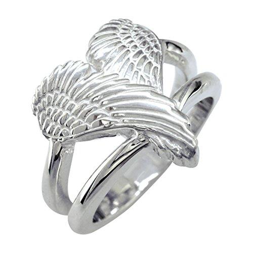 Sziro Medium Angel Heart Wings Ring, Wings Of Love, 17mm ...