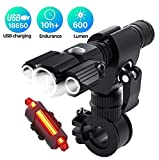 Best Bike Light Usbs - USB Rechargeable Bike Light Set Powerful Lumens Bicycle Review