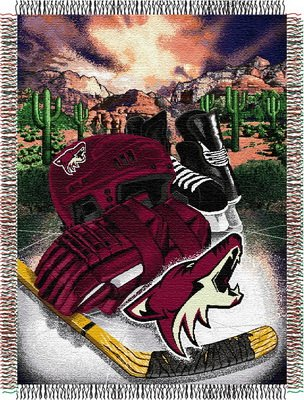 The Northwest Company Officially Licensed NHL Arizona Coyotes Homefield Ice Advantage Woven Tapestry Throw Blanket, 48″ x 60″