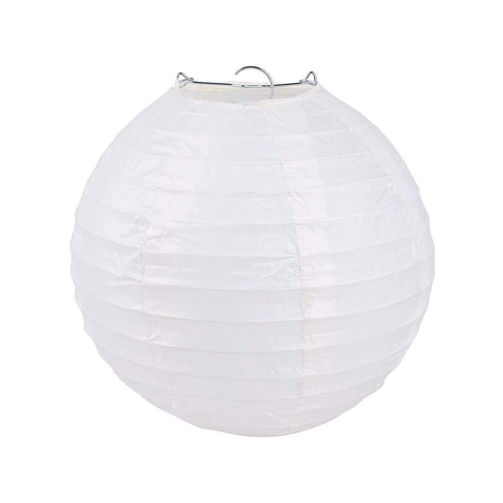 Jixin4you Lot de 9pcs Chinois Lanterne Rond Papier Dé coration pour Mariage Fê te Azur 10cm
