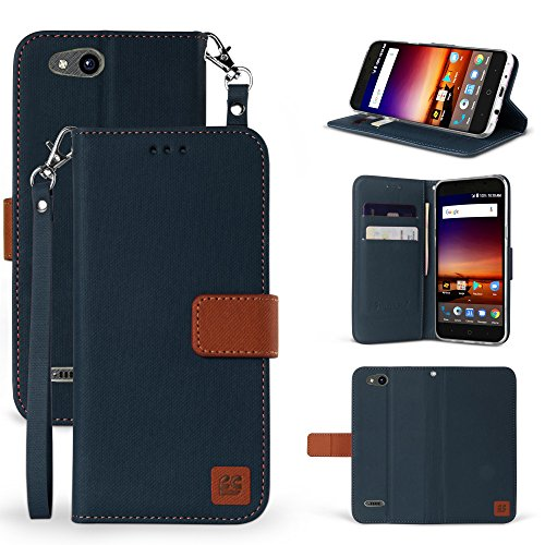 ZTE Blade Vantage Case, ZTE Tempo X Case, Customerfirst Luxury PU Leather Wallet Flip Protective Case Cover with Card Slots and Stand for ZTE Blade Vantage Z839/ZTE Tempo X N9137 - Online Store Tay