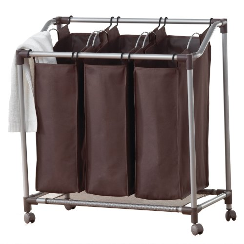 Sorter Laundry Deluxe - neatfreak U5440-EFE Deluxe Triple Laundry Sorter with Everfresh