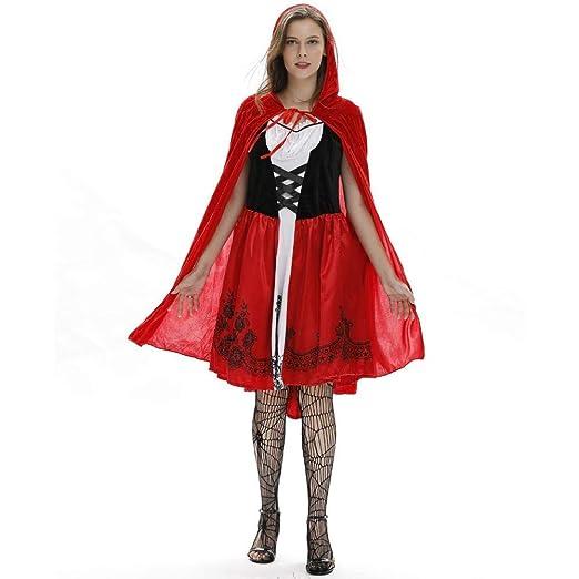 WWAVE Lady Sexy Cape Caperucita Roja Disfraz de Halloween Cosplay ...