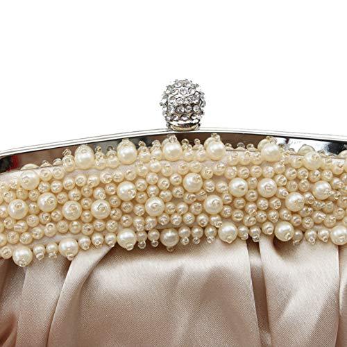 Handmade de d'autres soirée Soirée Color Pochette 9x6inch Perles à 23x16cm Femme Sac Jours Et Classique de Main B C Bal Parti soirée Solid Sacs fériés rFFpqE