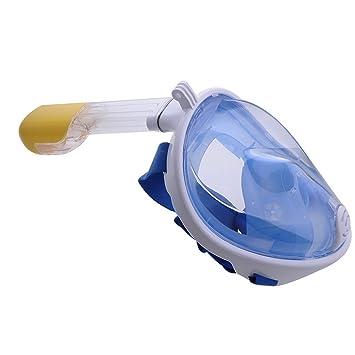 laamei Máscara de Buceo para Snorkel con 180° Vista Panorámica Respiración Libre Máscara de Snorkeling