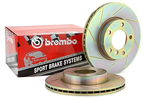 [BREMBO] CROSS DRILLED SPORT Disc Brake Rotors [FRONT PAIR] - 37077 - Brembo Sport Cross Drilled Brake