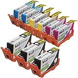 LD Remanufactured Replacement for HP 920XL / 920 Ink Cartridges: 3 CD971AN Black, 2 CD972AN Cyan, 2 CD973AN Magenta & 2 CD974AN Yellow for OfficeJet 6000, 6500, 6500a, 6500a Plus, 7000 & 7500a