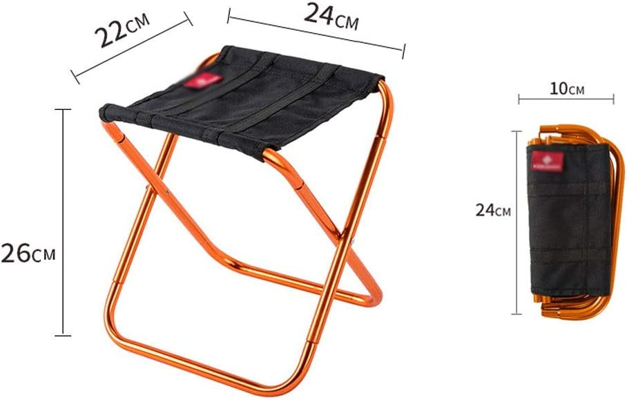 Zxb-shop Portable Folding Chair Outdoor Portable Folding Chair Ultra Light Travel Small Chair Outdoor Fishing Special Stool Outdoor Camping Folding Chairs (Color : B) A
