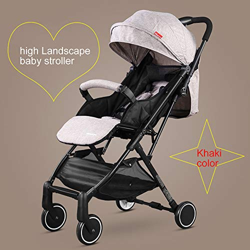 HRD Stroller, Reversible All-Terrain Pushchair, Light Aircraft Baby Carriage, Foldable Toddler Pram, Reclining and…