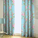 Catherine Lansfield Home Canterbury Floral Pencil Pleat Lined Curtains, Multi, 66 x 72 Inch