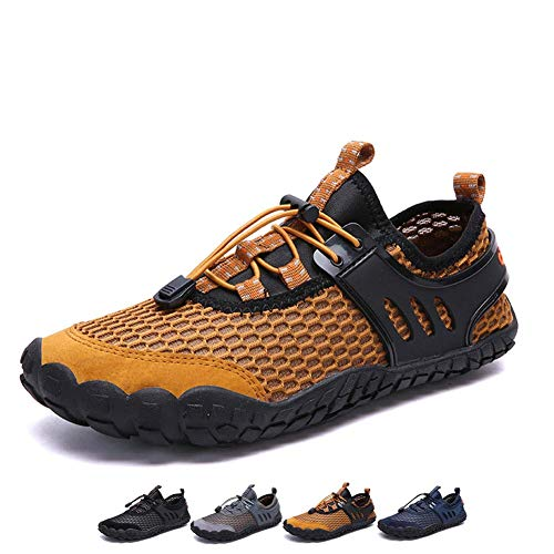 a1131c39f826 YUHUAWYH Men Women Water Shoes Barefoot Quick Dry Aqua Shoes for Beach  Hiking Surf Drifting Athletics Fishing Wading Yoga