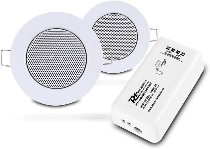 Power Dynamics Bluetooth Ceiling Speakers Complete Installation kit Easy  Install Existing Downlight Cut-Out Holes