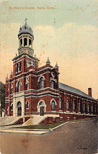 - Baltic Connecticut St Marys Church Street View Antique Postcard K82820