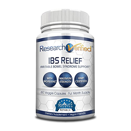 Research Verified IBS Relief: Fast, Safe, Effective Relief from Irritable Bowel Syndrome - With Bioperine, Natural Digestive Enzymes to Aid Digestion and Reduce Abdominal Discomfort, 60 Vegan Capsules