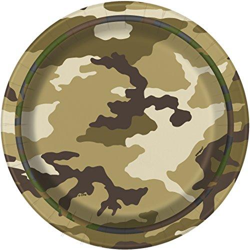 Military Camo Dessert Plates 8ct
