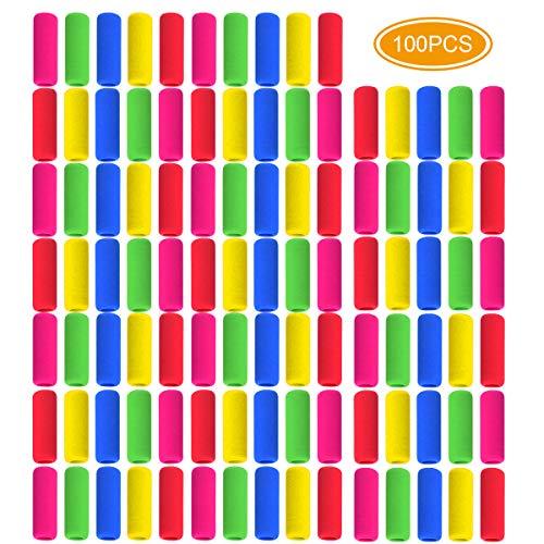 Faxco 100Pcs Pencil Grips Writing Aid Soft Foam Pencil Grips Pen Holder Pencil Gripper for Students,Assorted Colors