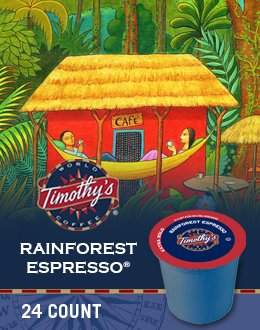 Timothy's World Coffee K-Cup Portion Pack for Keurig K-Cup Brewers
