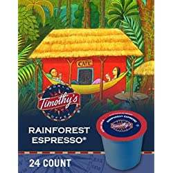 Timothy's World Coffee Rainforest Espresso K-Cup Coffee