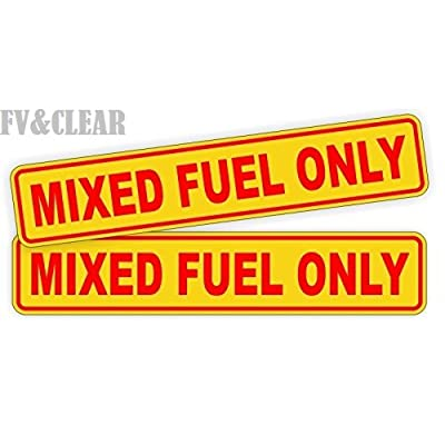 Pair MIXED FUEL ONLY Decals / Stickers / Labels / Markers Fuel Oil Gas: Home Improvement [5Bkhe1513831]