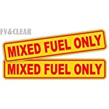 Pair MIXED FUEL ONLY Decals / Stickers / Labels / Markers Fuel Oil Gas